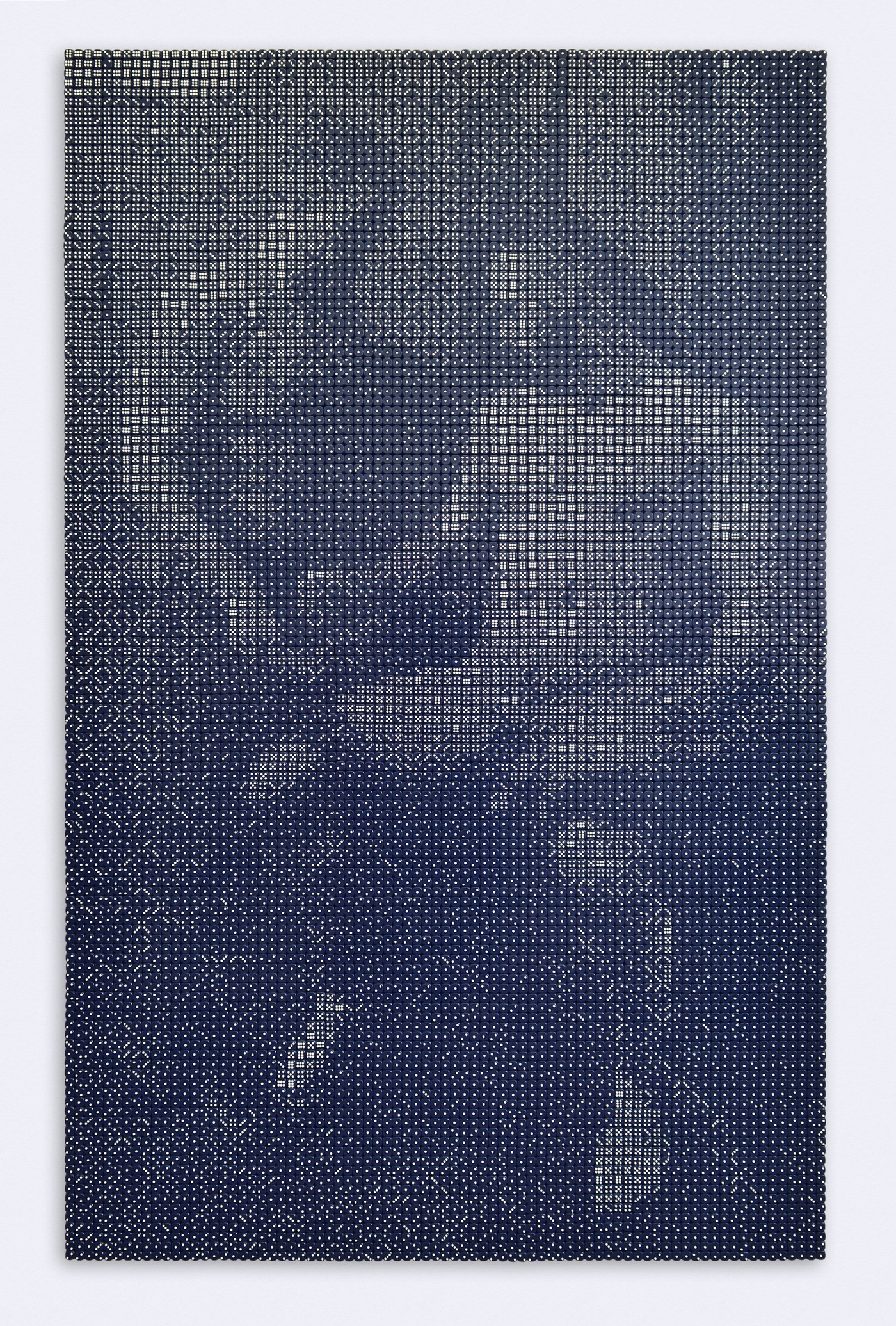 Pierre Fouché. Simon & Pieter. 2018. Acrylic die on laminated aluminium. 200 x 125cm. [Based on a photograph by Christoff van Wyk, with kind permission]